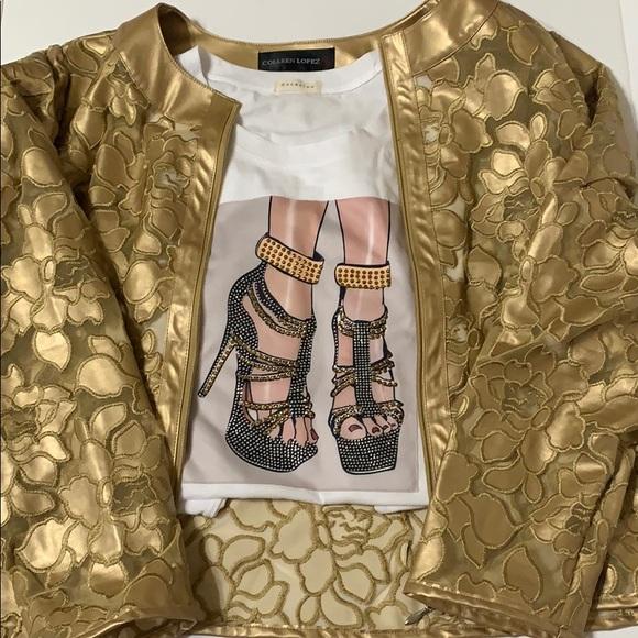 Shoe Diva Sparkly Glam Tee w Rhinestones [TO-76]